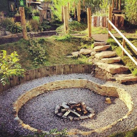 Dome Garden: Fire pit - popular and a good place to make friends and toast those marshmallows!