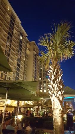 Ocean Beach Club: View from Lager Heads next door Aug 2015