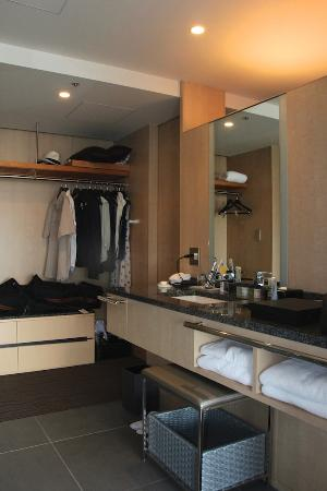 The Capitol Hotel Tokyu: Wardrobe & sink