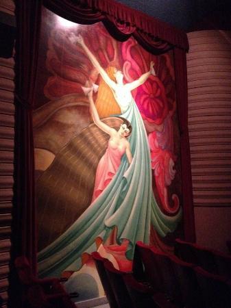 Orinda Theater: Deco painting