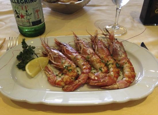 Restaurant La Piazzetta : gamberoni
