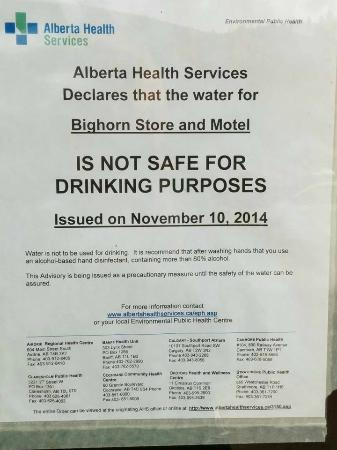 Big Horn Motel: warning