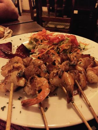 El Bocadito Tapas Restaurante Bar : grilled shrimp wrapped in bacon