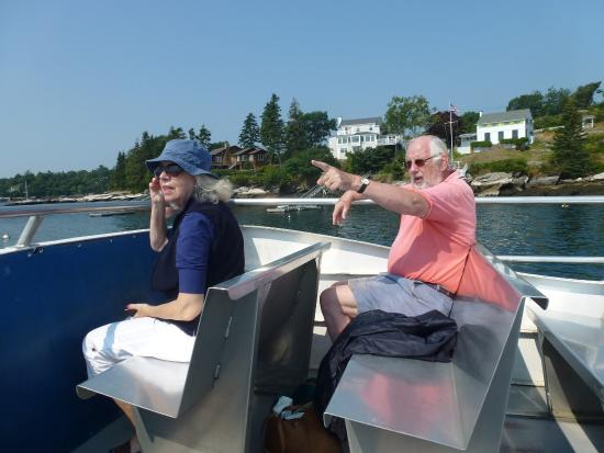 Balmy Days Cruises: Enjoying Novelty on our way to Squirrel Island.