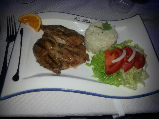 Arisol Restaurante-Bar : Iberico Pork with rice and salad