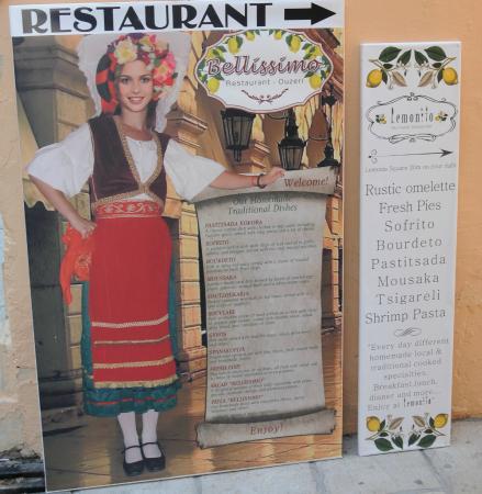 44cd24a1e7d8 Le menu - Εικόνα του Bellissimo