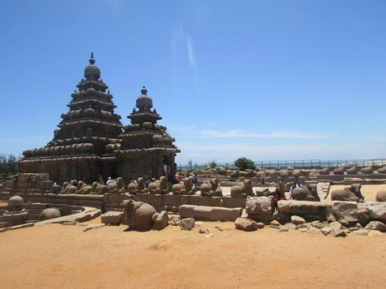 Mahabalipuram, Indie: the  temple