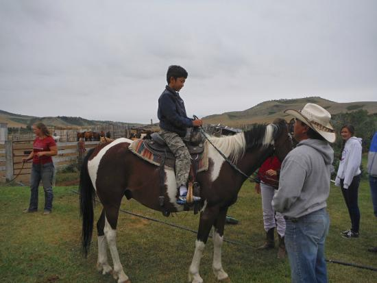 Valier, MT: Chuck helping my son