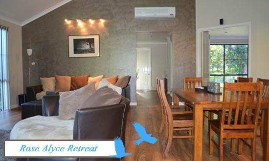 Living area at Rose Alyce Retreat, Ravensbourne Escape