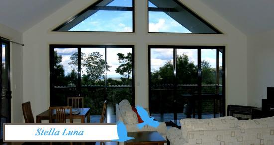 Views from living area in Stella Luna, Ravensbourne Escape