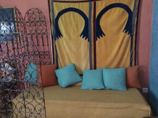 Dar JAND : Sitting Area of Berber Hmar Room