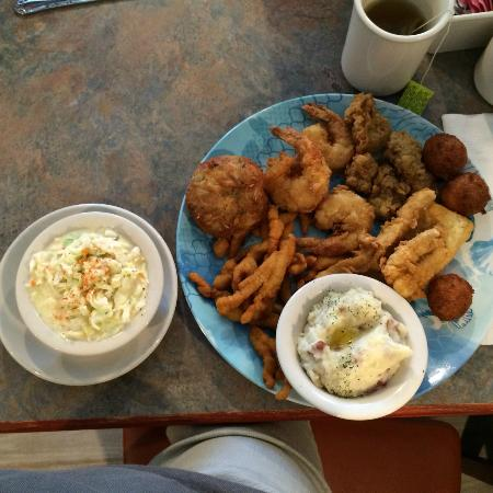 Mechanicsville, MD: My Seafood Platter with Mashed Potatoes and Cole Slaw
