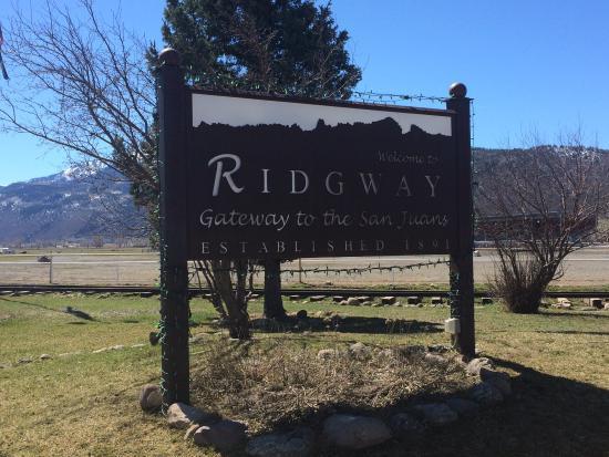 Ridgway Railroad Museum: Ridgway Sign
