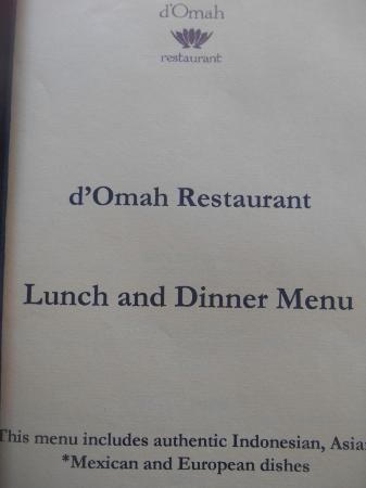 Buku Menu Picture Of D Omah Lotus Restaurant Bantul Tripadvisor