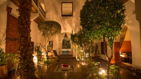 Riad l'Orangeraie: The patio