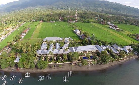The Lovina: Aerial photo