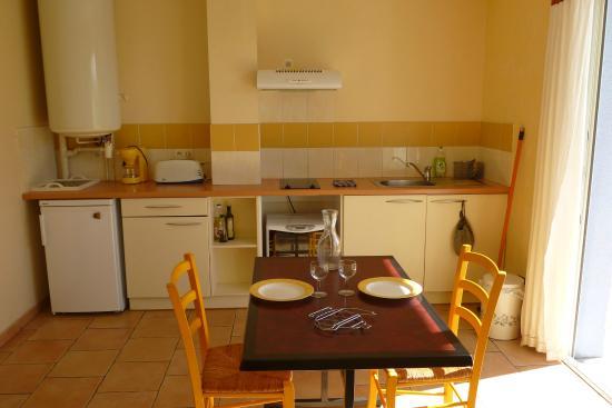 Les gites du hameau de Pau: cuine salon gite