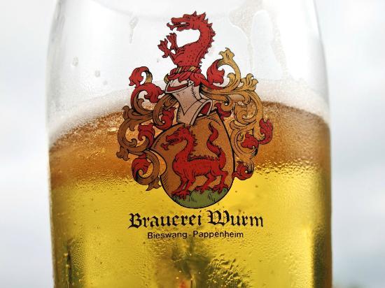 Solnhofen, Jerman: leckeres Bier im Biergarten