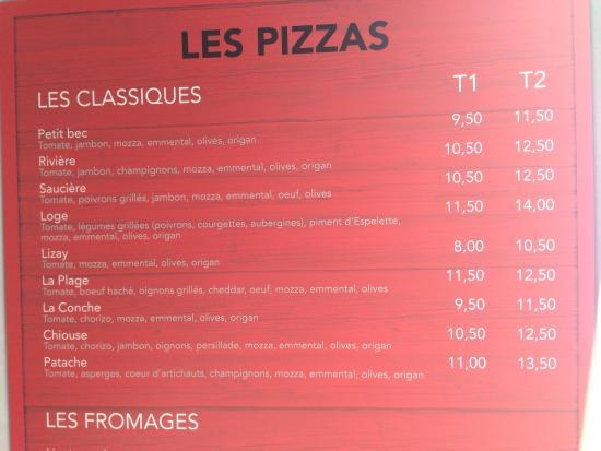l'îlot pizza : L'enseigne, le menu pour les pizzas et les fromages notamment à prix plutôt raisonnable pour la