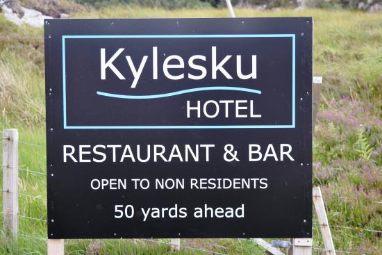 Kylesku Hotel: The hotel board