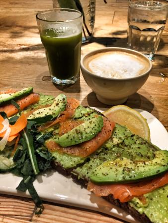 Love love this place. They have fantastic healthy food and great coffee. Avocado toast is to dye