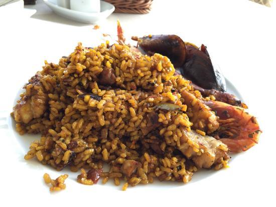 Paella de pescado y marisco fotograf a de es nautic - Paella de pescado ...