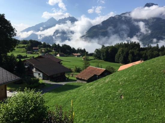 Pension Chalet Berkana: a view from the breakfeast porch
