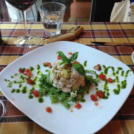 i Clementini: Squid starter with pine nuts