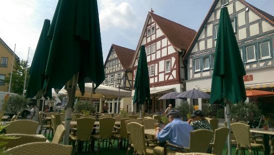 Nidda, เยอรมนี: Netter Blick von der Terrasse
