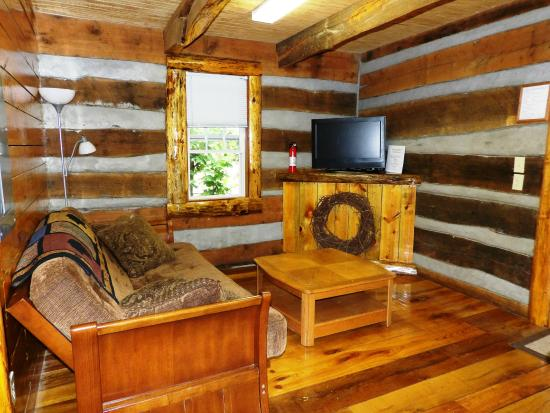 scenic veiw log cabins: Living Room