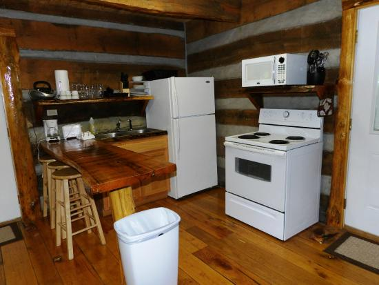 scenic veiw log cabins: Kitchen