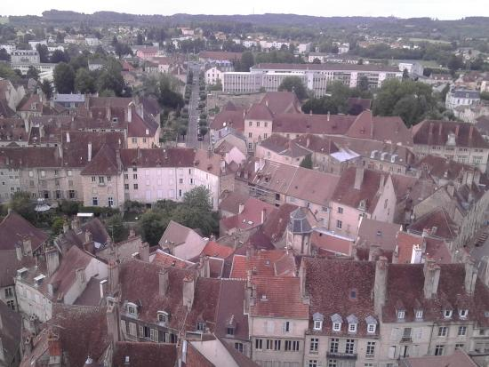 Collégiale Notre-Dame de Dole : Vue depuis sommet du clocher