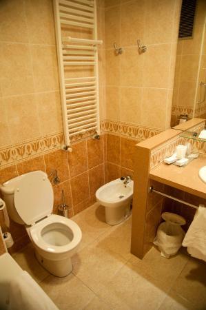 Hotel Pirineos: Bathroom