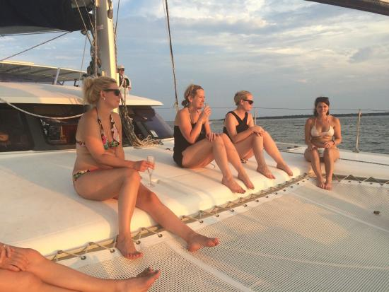 S/V Shenanigans - Private Charters: The start of sunset