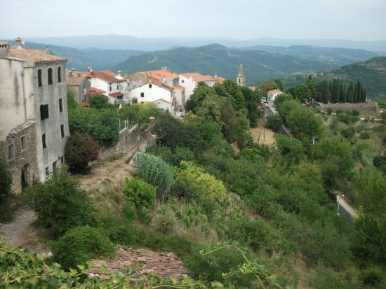View of Motovun from the parking lot