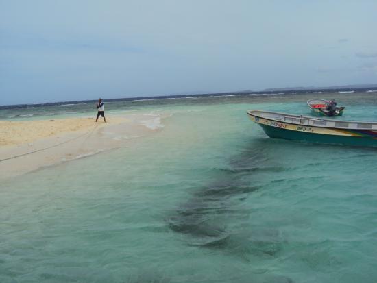 Paradise Island & The Mangroves (Cayo Arena): Der schöne weiße Strand und die Boote