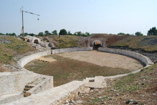 Burnum Roman Military Camp: Amphitheatre from above