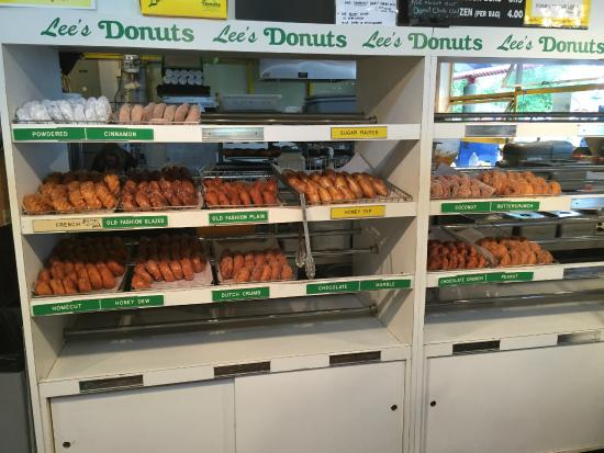 Lee's Donuts of Granville Island : Lee's donut selection