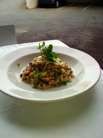 Cafe 1999: Risotto with Panchetta and truffle oil - Great 8/10!