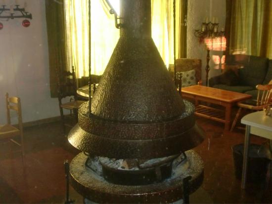 Hotel Terralta: chimenea