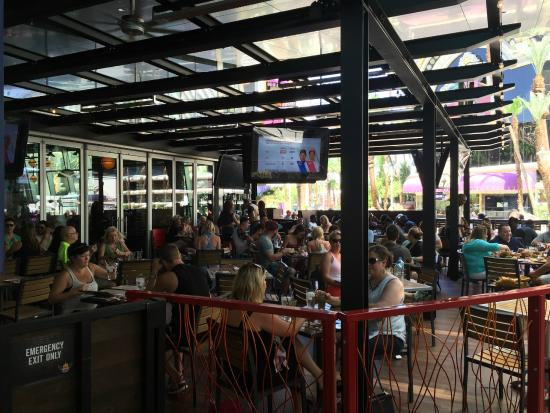outdoor patio picture of fieri s vegas kitchen and
