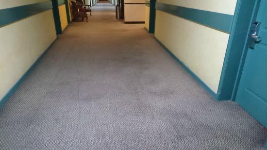 Hotel Diego de Almagro Aeropuerto : Carpet outside the room