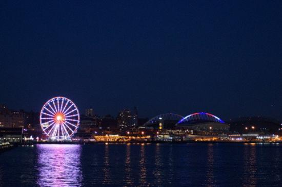 View Of Seattle Skyline At Night Picture Of The