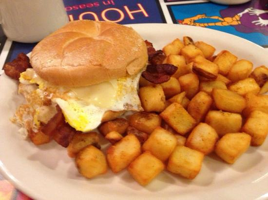 Breakfast Sandwich Do It Picture Of The Chicken Or The Egg Beach Haven Tripadvisor