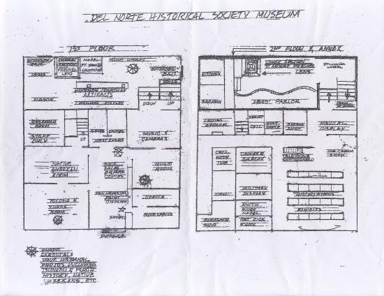 Blueprint of the museum given to us at entry picture of del norte del norte county history museum blueprint of the museum given to us at entry malvernweather Images