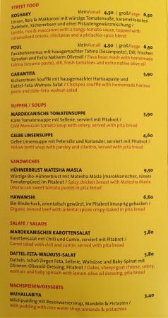Wintergarten menu literaturhaus cafe im Café