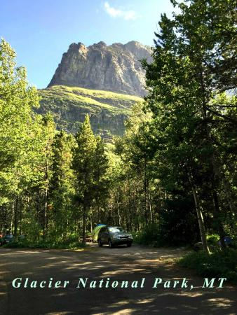 Many Glacier Campground: View from Campsite
