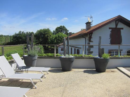 Chambres d'hotes Maxana : Terrasse