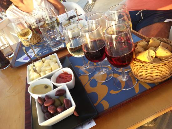 Pyrgos, Greece: tasting wine