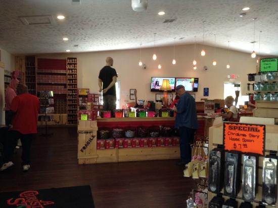 a christmas story house inside the christmas story gift shop you